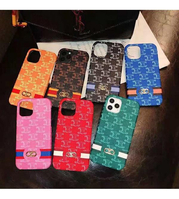 セリーヌ iphone 13/12s/12mini/12 pro max/11 pro maxケース 立体ロゴ ブランド モノグラム CELINE TPU製  ビジネス ジャケット型 背面保護 シンプル おまけつき アイフォン12/11/x/xs/xr/8/7カバー メンズ レディース