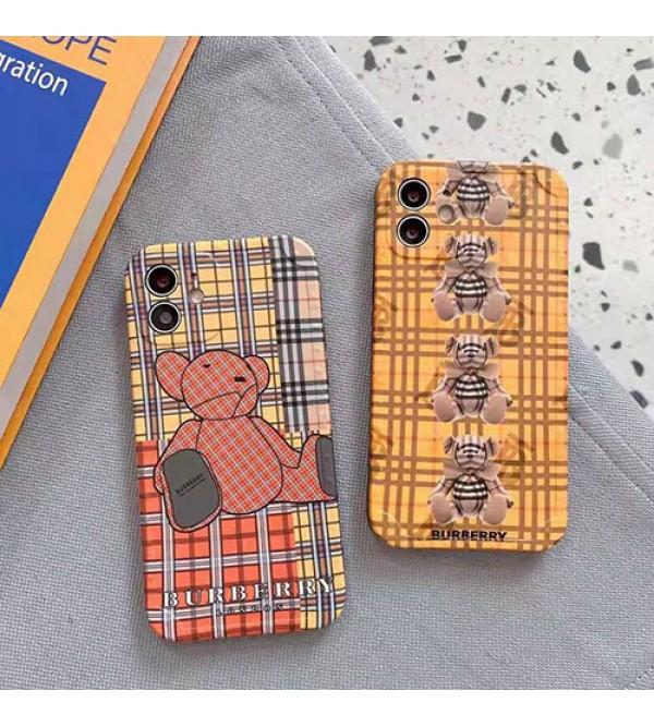 バーバリー ブランド熊柄 セレブ愛用iphone 12/12 pro/12 max/12 pro maxケース ファッションシンプル個性潮iphone x/xr/xs/xs maxケース ファッション新品可愛いiphone xs/11/8 plus/se2ケース 高級 人気 LINEで簡単にご注文可