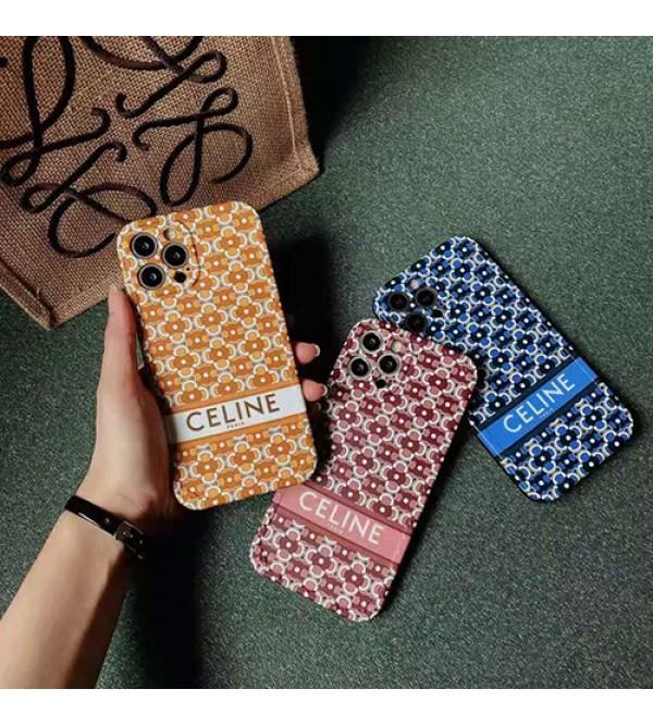 Celine ブランド 花柄 iphone13/12s/12 pro/12 pro max/12mini/11ケース ジャケット型 セリーヌ Galaxy s21/s21+/s21 ultra/s20ケース 人気 セレブ愛用 激安 iphone11/11pro maxケース 安い iphone x/xr/xs max/8/7カバー ファッション Huawei p40 メンズ レディース