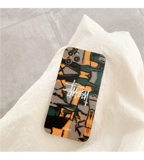 ステューシー ブランド ビジネス ピカソ風 iphone12/12pro maxケース 安い ステューシー iphone xr/xs max/11proケース 個性 モノグラム メンズ アイフォン12mini/11pro max/8plus/se2ケース