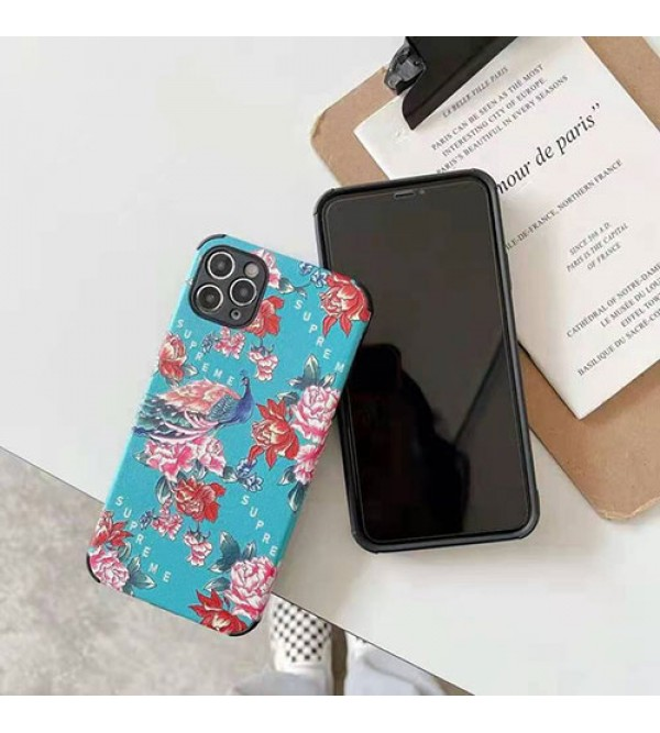 シュプリーム ブランド iphone 12/12 pro/12 pro maxケース 花柄 セレブ愛用 iphone11/11pro maxケース 激安 個性 iphone x/xr/xs/xs maxケース 人気iphone se2/8/7plus携帯カバー