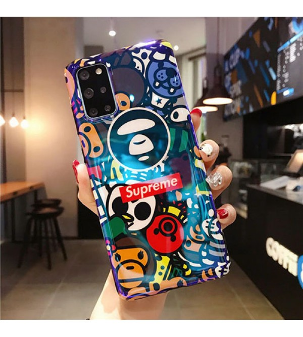 シュプリーム ブランドパロディ風iphone 12 /12 pro/12 mini/12 pro maxケース ステューシー 耐衝撃Galaxy s10/s20+/s20 ultraケースおしゃれ 衝撃吸収 HUAWEI Mate 30 Pro 5G保護ケース