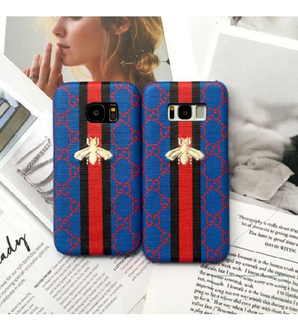 gucci iPhone xr/xs max/xsケース iphone 12ケースグッチgalaxy s8plus/note8/s7edgeスマホケース ブランド Iphone6/6s Plusカバー ジャケット 刺繍ミツバチ付き