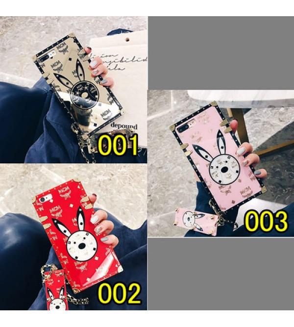 ブランド mcm iPhoneXケース エムシーエム Iphone8/7 Iphone8plus/7plusケース Iphone6/6s Plus Iphone6/6sジャケットケース チェーン付き