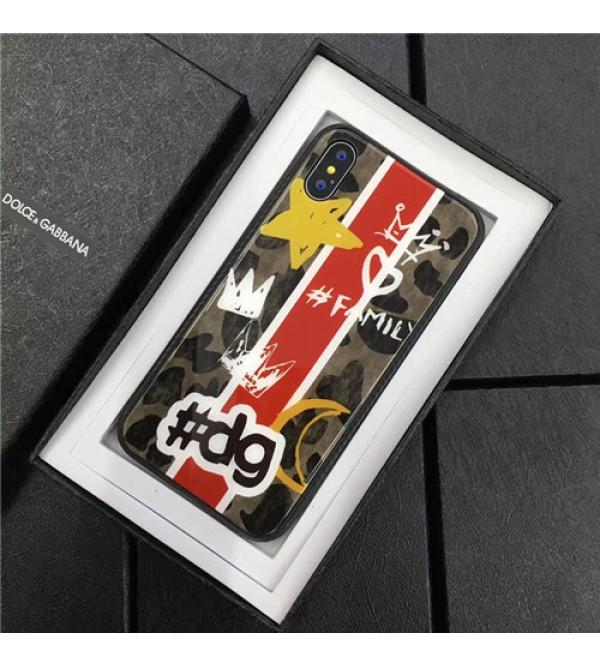 ブランド D&G iPhoneXケース ドルチェ&ガッバーナ Iphone8/7 Iphone8plus/7plusケース Iphone6/6s Plus Iphone6/6sカバー ジャケット 強化ガラス