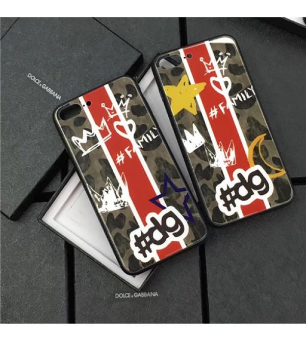 iphone12ケースブランド D&G iPhoneXケース ドルチェ&ガッバーナ Iphone8/7 Iphone8plus/7plusケース Iphone6/6s Plus Iphone6/6sカバー ジャケット 強化ガラス