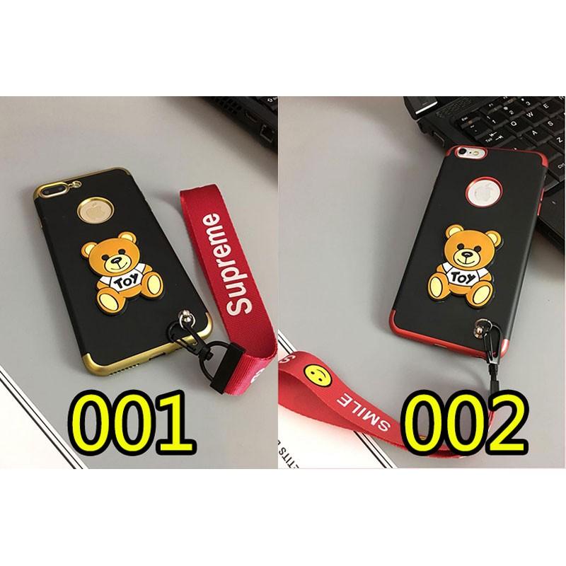 ブランド Supreme IPhoneXケース シュプリーム Iphone8/7 Iphone8plus/7plusケース Iphone6/6s Plus Iphone6/6sカバー  ハンドストラップ付き