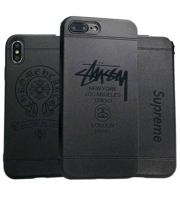 supreme iPhoneXカバー stussy/chrome hearts アイフォンXケース iPhone8/7/6 plusケース ブランドシュプリーム/ステューシー/クロムハーツ エコ素材 無臭 研磨