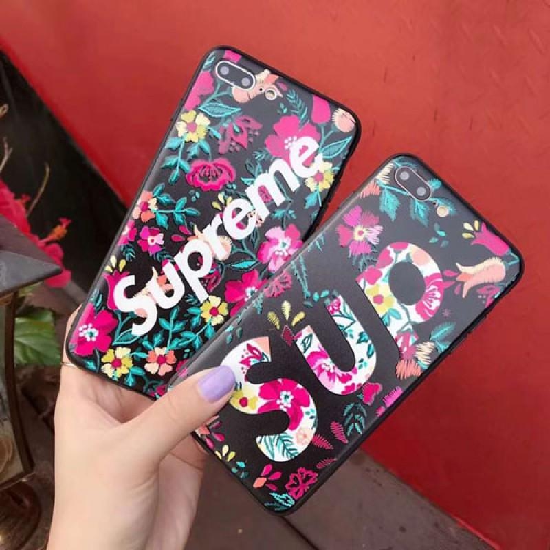 iphone 12ケースブランドsupreme iPhoneXケース シュプリームIphone se2/8/7 Iphone8plus/7plusスマホケース Iphone6/6s Plus Iphone6/6sカバー ジャケット 花絵柄