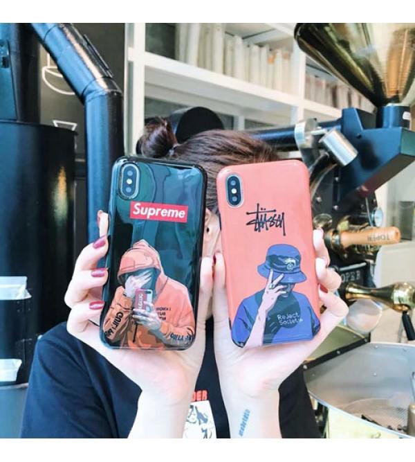 iphone 12 ケースブランドSupreme IPhoneXケース シュプリーム Iphone se2/8/7plusスマホケース ステューシー Iphone6/6s Plus Iphone6/6sカバー ジャケット アニメ絵柄