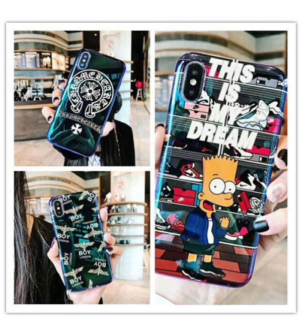 ブランドchrome hearts iPhone xケース boy london iphone 8/7plusスマホケース Iphone6/6s Plus Iphone6/6sカバー ジャケット ブルーライン