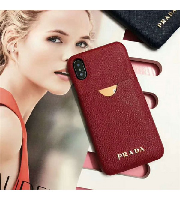 PRADA iPhone xケース iPhone12 ケースプラダ iphone se2/8/7Plusスマホケース ブランド Iphone6/6s Plus Iphone6/6sカバー ジャケット カード入れ