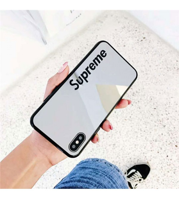 supreme iPhone xr/xs max/xsケース シュプリーム iphone x/8/7/se2スマホケース ブランド Iphone6/6s Plus Iphone6/6sカバー ジャケット 支え付き 鏡面