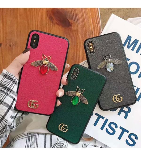 gucci iPhone xr/xs max/xsケース グッチ iphone x/8/7/se2スマホケース ブランド Iphone6/6s Plusカバー ジャケット 立体的なミツバチ付き 豪華