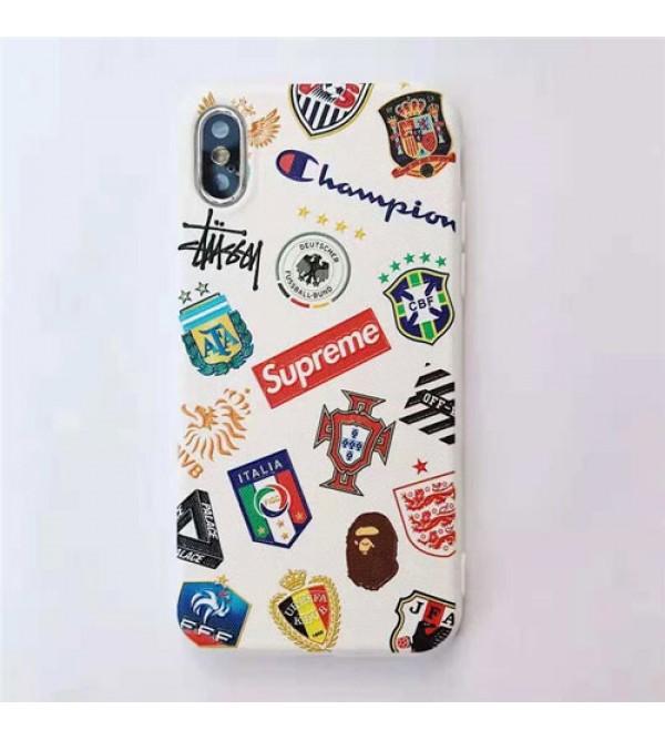 iphone 12ケースブランド シュプリーム iPhone xr/xs max/xsケース ナイキ iphone x/8/7/se2スマホケース ステューシーIphone6/6s Plusカバー ジャケット adidas Iphone6/6sカバー ハンドとネックストラップ付き