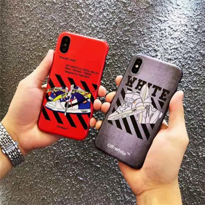 ブランドoff white iPhone xs/xs max/xrケース オフホワイト iphone x/8/7スマホケース ブランド Iphone6/6s Plus Iphone6/6sカバー ジャケット スニーカー絵柄