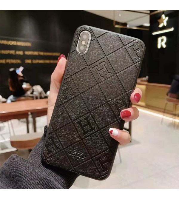 iphone 12/12 mini/12 pro/12 pro maxケース hermes iPhone xr/xs max/xs/11pro maxケース エルメスGalaxy s10/s10e/s9/s8 plusケース iphone x/8/7スマホケース ブランド Iphone6/6s Plusカバー ジャケット 菱形 H文字