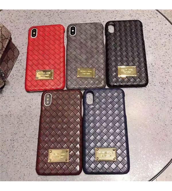 ブランドMK iPhone xr/xs max/xsケース マイケルコース iphone x/8/7スマホケース ジャケット Iphone6/6sカバー 合金マック付き 菱形