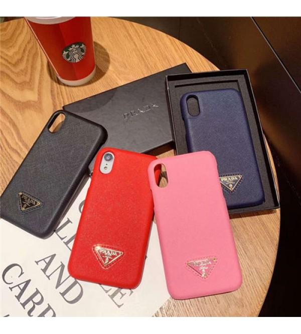 ブランドprada iPhone xr/xs max/xsケース プラダ iphone x/8/7スマホケース ジャケット Iphone6/6sカバー 三角形マック
