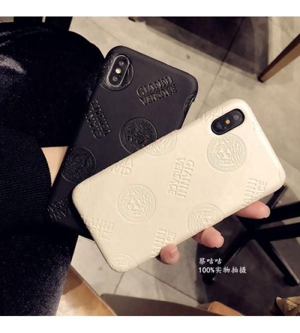 ブランドversace iPhone xr/xs max/xsケース ヴェルサーチ iphone x/8/7スマホケース ジャケット Iphone6/6sカバー 凹み紋
