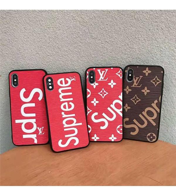 シュプリーム  ルイヴィトン iPhone xs/8ケース お洒落 アイフォン x/xr/xs maxスマホケース ブランドIphone7/6s Plusカバー 高級コラボ 男女兼用