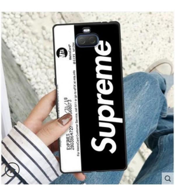 シュプリーム Xperia 1ケース galaxy S10/9/8+ケース 潮流 Supreme Sony エクスぺリア1カバー Xperia Ace ケース Xperia XZ2ケース Xperia XZ3 iphone se2ケース お洒落 ファッション 爆人気ジャケット