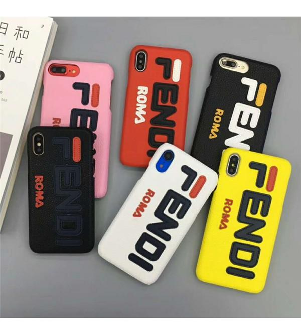 fendi フェンデイ iphone xr/xs maxケース ブランド アイフォン x/テンケース オシャレ混色iphone se2/8/7 plusケース ファッション大人気