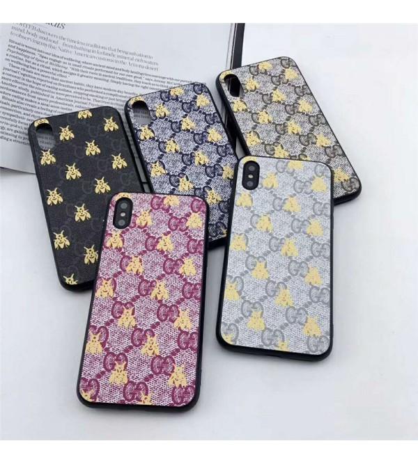 iphone 12 ケースグッチ galaxy S10plusケース iphone xrケース 人気 ブランド ギャラクシーS10カバー Galaxy   S9/S8plusケース iphone xs max/x/10/se2/8plusケース おしゃれ 耐衝撃 ミツバチ