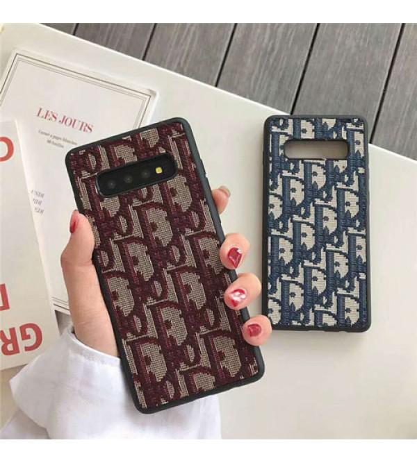 Dior ディオール iphone xrケース galaxy S10plusケース 綿 麻 galaxy S10ケース iphone xs max/x/10/se2/8plusケース ギャラクシーS9/S8plusケース 人気 ブランド 柔らかい 耐久性 芸能人愛用