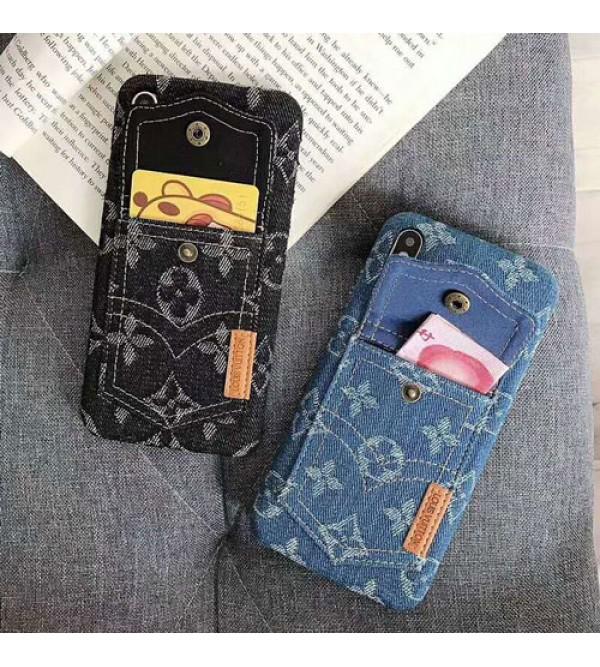 ルイヴィトン iphone 11/11pro max/xrケース iphone xs maxケース カード入れ 収納 オシャレ iphone xs/x/10/8/7/6plusケース iphone 10ケース メンズ レディズ デニム 人気 ブランド 耐衝撃
