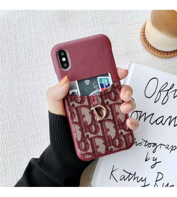iphone 12ケースディオール Dior iphone xrケース 人気 ブランド iphone xs maxカバー カード入れ iphone xs/x/se2/8Plusケース 生地 柔らかい 芸能人愛用 激安販売