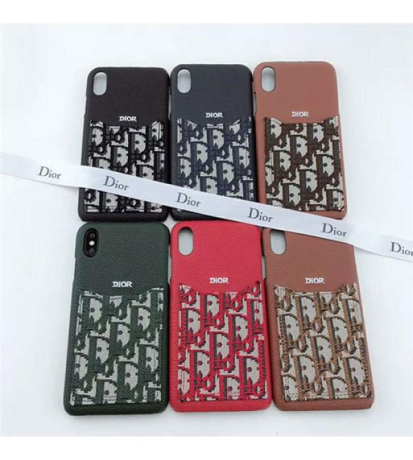 ディオール Dior iphone xrケース 人気 ブランド galaxy S10plusケース iphone xs maxカバー 生地 カード入れ iphone xs/x/8Plusケース galaxyS9/S8plusケース 柔軟性 芸能人愛用