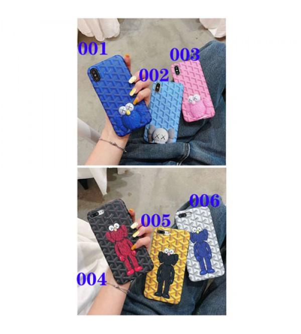 Goyard ゴヤール kawsコラボ iphone xrケース ブランド iphone xs maxカバー オシャレ 人気 iphone xs/x/8Plusケース カートン 芸能人愛用 激安販売