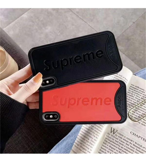 iphone xrケース シュプリーム iphone xs maxケース 人気潮流 ブランド supreme iphone xs/x/8Plusケース ステューシー 芸能人愛用 耐久性