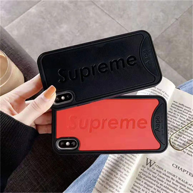 iphone xrケース シュプリーム iphone xs maxケース 人気潮流 ブランド supreme iphone xs/x/se2/8Plusケース ステューシー 芸能人愛用 耐久性