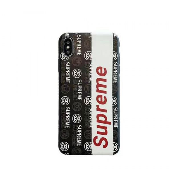 シュプリーム iphone xr/xs maxケース ステューシー ブランド 個性 iphone xs/テンカバー潮流人気 iphone x/10s/8/7 plusカバー メンズレディース向け