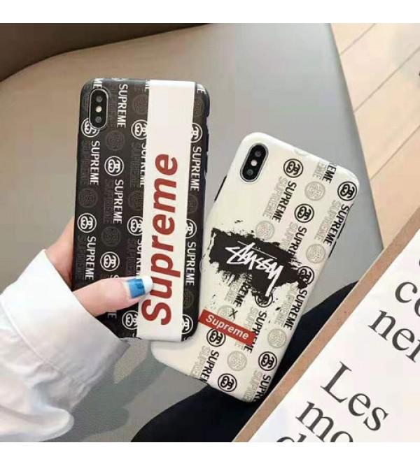 iphone12ケースシュプリーム iphone xr/xs maxケース ステューシー ブランド 個性 iphone xs/テンカバー潮流人気 iphone x/10s/se2/8/7 plusカバー メンズレディース向け