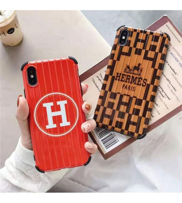 エルメス iphone xr/xs maxケース HERMES iphone xs/10sケースブランドトランク アイフォン se2/8/7 plusケース ファッションオシャレ 芸能人愛用