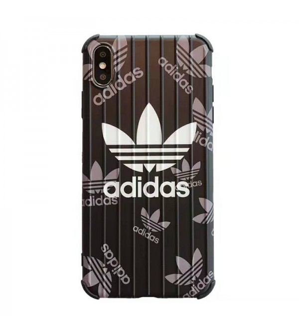 アディダス iphone xr/xs maxケースブランド adidas iphone 11R/11 MAXケース 運動風 アイフォンX/8/7 plusケーストランクデザインオシャレファッションメンズレディース兼用
