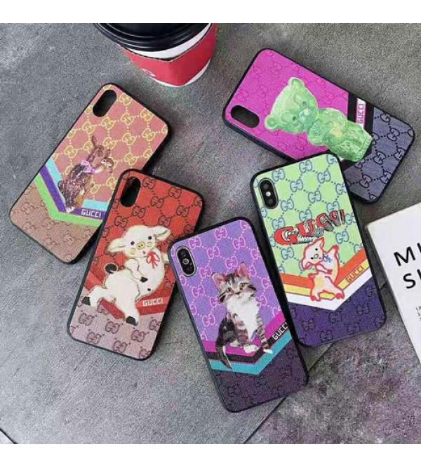 iphone 12 ケースグッチ iphone xr/xs max/11pro max/se2ケースブランドgucci iphone 11/XI/11Rケースキャラクター 猫 豚 ダンボ iphone x/8/7 plusケース大人気 お洒落メンズレディース兼用
