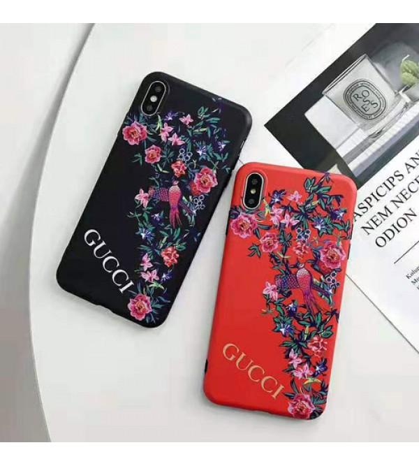 グッチiphone xr/xs max/se2ケースブランド gucci iphone 10s/11Rケース薄型花柄アイフォン X/8/7 plusケース ペアお揃い ファッションお洒落ジャケット型カバー
