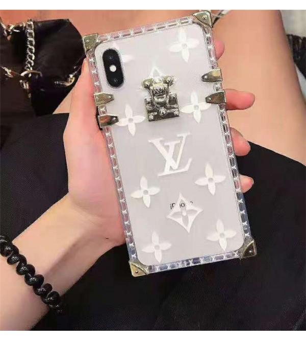 lv ルイヴィドンアイフォン se2/11/11pro/xr/xs maxケース ブランド 透明 iphone 10s/11/XIケース お洒落モノグラム アイフォンx/8/7 plusケーストランク高級ファッション