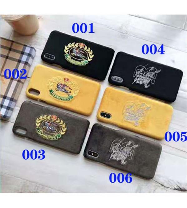 Burberry バーバリー iphone xr/xs max/se2ケースブランド iphone 11/XI plusケース 精緻刺繍ロゴ galaxy s10/s10 plusケースイギリス風 オシャレファッションアイフォン 8/7 plusカバー