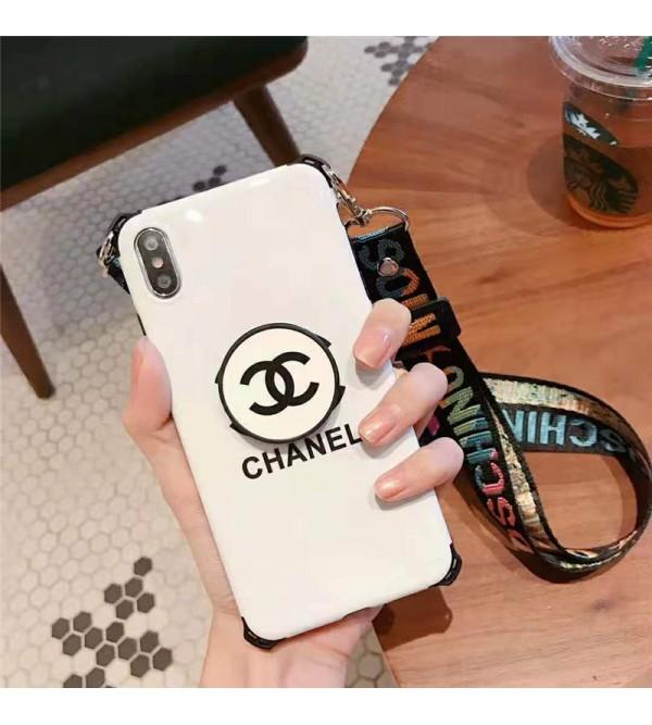 シャネル ysl iphone xr/xs maxケースディオールグッチ iphone XI/11R/11 maxケースブランドヴィトンアイフォン x/8/7 plusケースファッションお洒落 スタンド機能ストラップ付き