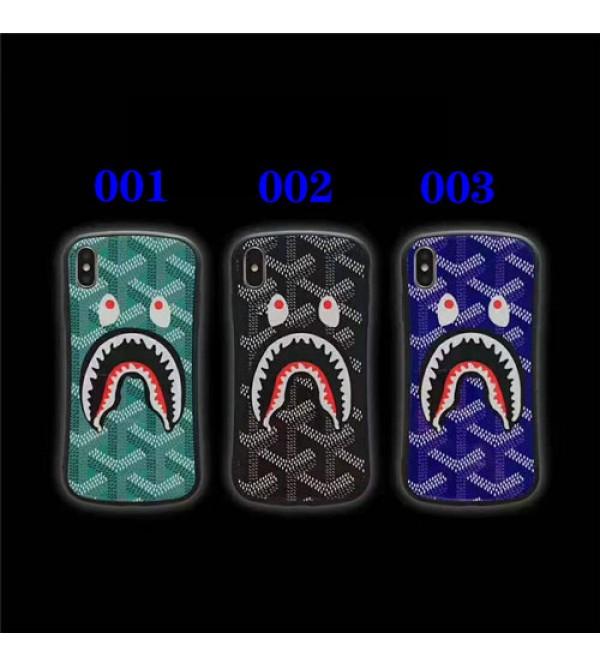ゴヤール iphone xr/xs maxケースブランド iphone XI/11MAX/se2ケース 個性サメゴヤール アイフォン x/8/7 plusケースファッションパロディ風 お洒落男女兼用