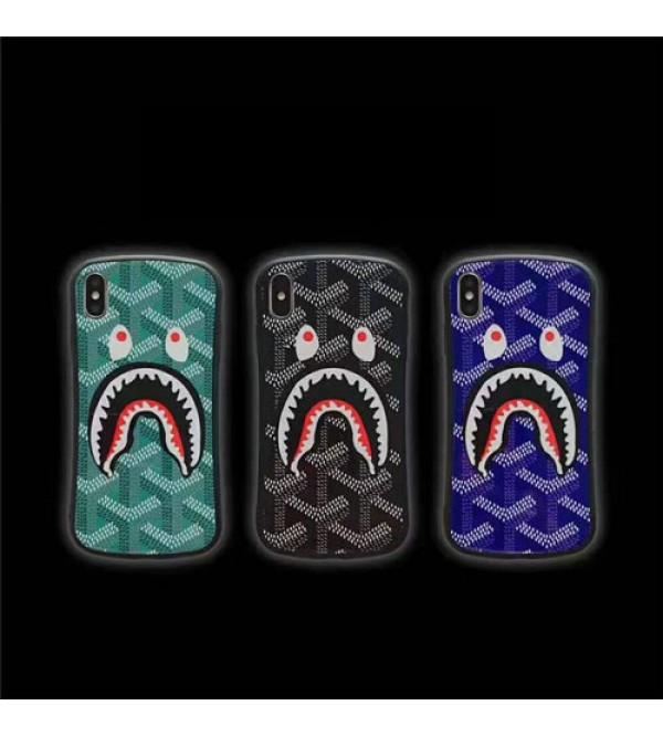 iphone 12ケースゴヤール iphone xr/xs maxケースブランド iphone XI/11MAX/se2ケース 個性サメゴヤール アイフォン x/8/7 plusケースファッションパロディ風 お洒落男女兼用