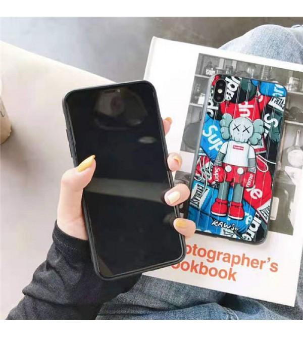 supreme iphone xr/xs  maxケースシュプリーム iphone XI/11 Max/se2ケース個性キャラクター  iphone X/8/7 plusケースお洒落潮流 アイフォン11Rケース
