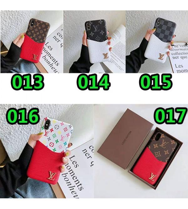 iphone 12ケースルイヴィトン iphone XI/11/11promax/se2ケースブランド lv iphone xr/xs maxケースお洒落モノグラムダミエ Galaxy s10e/s10 s9 plusケース カードポケット付きファッションビジネス風