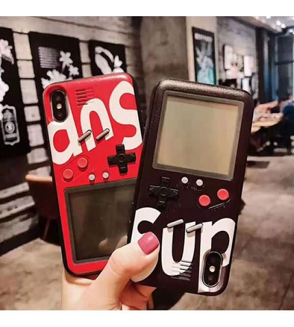 シュプリーム iphone xr/xs maxケースブランド iphoneXI/11 max/se2ケース個性 潮流 ゲーム機 アイフォン x/8 plusケース  iphone 10s/7 plusカバーファッション