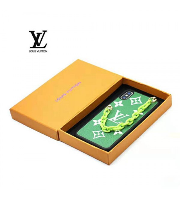iphone 12ケースルイヴィトン iphone XI/11/11pro Max/se2 galaxy s20/s20+ケースブランド lv iphone xr/xs maxケースGalaxy s10/s9ケース個性チェーン付きiphone x/8/7 plusケースオシャレモノグラム 高級 耐衝撃